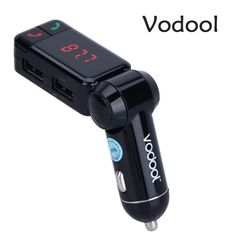 VODOOL Universal FM transmitter Bluetooth Car Charger Kit wireless Handsfree Phone Speaker FM Transmitter MP3 audio Player  *** Find out more by clicking the VISIT button