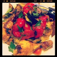 Baked chicken and vegetable