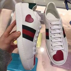 gucci heart sneakers
