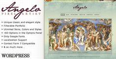 Angelo - Art WordPress Theme by meydjer on Themeforest