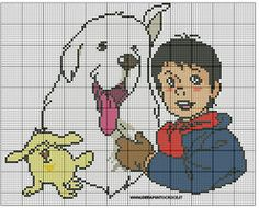 BELLE AND SEBASTIEN CROSS STITCH by syra1974