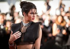 Kendall Jenner messy updo hairstyles 2015 Cannes