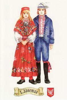 ESTONIA - National costumes of Läänemaa