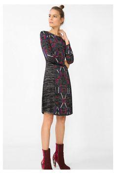 Glanzende zwarte jurk - Diácono   Desigual.com 2000