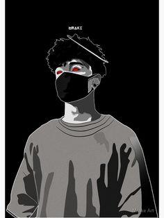 'Scarlxrd' Poster by Mrake Art Dope Cartoons, Dope Cartoon Art, Cartoon Kunst, Dope Wallpapers, Cute Cartoon Wallpapers, Animes Wallpapers, Arte Do Hip Hop, Hip Hop Art, Arte Dope