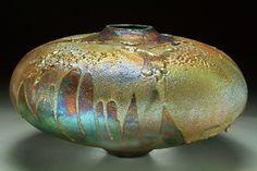 steven forbes desoule | Crusty Ovoid - Raku Pottery by Ceramic Artist Steven Forbes-deSoule