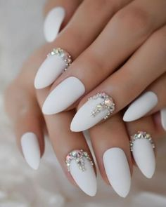 Frosted Burgundy Matte Stiletto False Nails White Amlond Sharp Fake Nails AB Gems Finished Pre Design Full Nail Tips Lux Nails, Bling Nails, Stiletto Nails, Bling Wedding Nails, Pearl Nails, Crystal Nails, Swag Nails, Crome Nails, Nail Store
