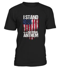 CHECK OUT OTHER AWESOME DESIGNS HERE!     I stand for the National Anthem shirt for patriotic Americans. Great for football games, July 4th, Veteran's Day, Memorial Day, Christmas Gift. Show your patriotism in our greatest country with this awesome shirt. If you love freedom, this shirt is for!   Distressed Stand for the Anthem Tshirt Distressed American Flag Shirt, Distressed USA Flag Shirt, Vintage Stand for Anthem Shirt, Stand for the Flag Shirt, Patriotic Stand for Anthem Shirt f...