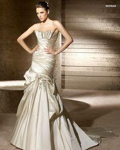 MORE INFO: Pronovias San Patrick Bridal Gown REFRAN  http://www.trudysbrides.com/Pronovias-Bridal-Gowns.asp