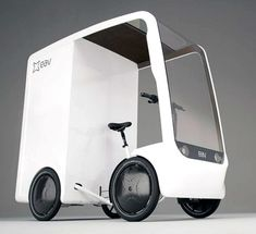"""carsthatnevermadeitetc: """"EAVan, British start-up Electric Assisted Vehicles Limited have revealed an electric cargo bike with an range of for inner city deliveries """" Electric Cargo Bike, Electric Tricycle, Eletric Bike, Pop Top Camper, Velo Cargo, Aston Martin Lagonda, Pedal Cars, Trailer, Bicycle Design"""