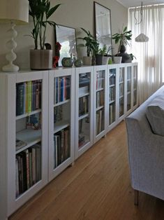 Billy Bookcases With Grytnäs Glass Doors Ikea Hackers Materials Billy Bookcase White Cm Grytnäs Glass Door Off White 40 100 Cm Utrusta Hinge We Were Looking For Mid Height Bookcases With Glass Doors For Our Living Room At A Reasonab Ikea Billy Hack, Ikea Billy Bookcase Hack, Billy Bookcases, Ikea Hacks, Diy Hacks, Small Living Room Storage, Salon Simple, Ikea Deco, Bookcase With Glass Doors