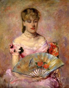 Mary Cassatt (American 1844–1926) [Impressionism, Portraiture] Lady with a Fan…