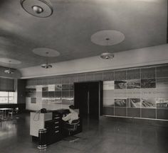 Public reception room at the Wheeler Dam powerhouse of the Tennessee Valley Authority, on the Tennessee River in Alabama. :: Alabama Photographs and Pictures Collection