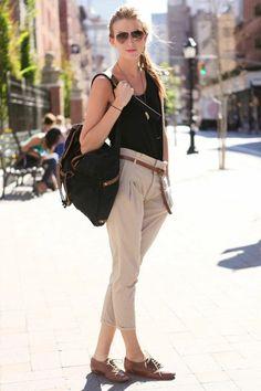 casual backpack look