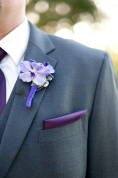 men's attire for a purple wedding :)....I like this style