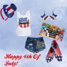 """Happy 4th of July!"" by ittybittykittyy on Polyvore"