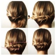 How to : Quick Twist for medium & short hair .