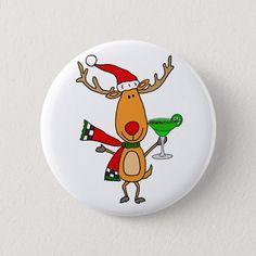 Christmas Buttons, Christmas Rock, Christmas Deer, Christmas Animals, Easy Diy Christmas Gifts, Diy Christmas Ornaments, Painted Rocks Kids, Painted Stones, Holiday Cartoon