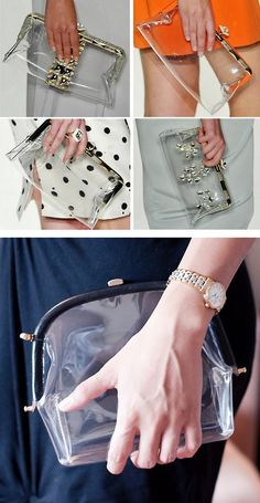 DIY Jenny Packham Inspired Clear Plastic Frame Bag Tutorial from Le Fanciulle here.