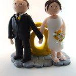 """Tortenfigur Brautpaar stehen mit """"@"""""""