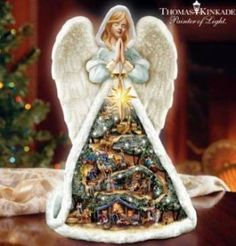 2009 Thomas Kinkade Christmas Story Angel LIT MUS NIB | eBay