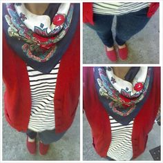 Stripes and florals weekend outfit pattern mixing (Love this outfit!!! V.A.)