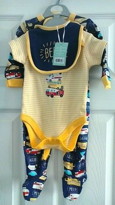 Bnwt Mothercare Baby Boys Blue Car Design All-in-one Romper Suit Age 1-3 Months Baby & Toddler Clothing