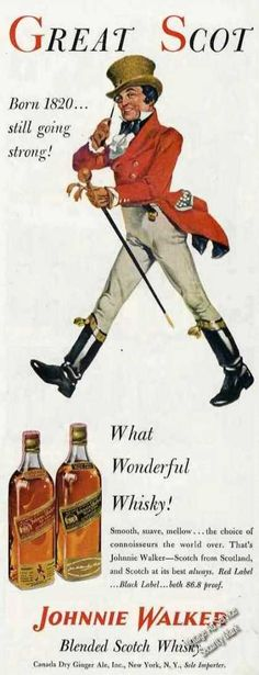 Johnnie Walker Art What Wonderful Whiskey (1953)