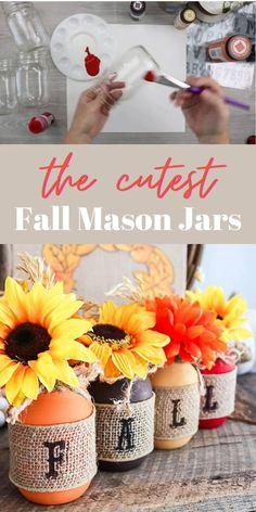 The Cutest Fall Mason Jars Ever
