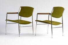 Gijs van der Sluis fauteuil model 60 / groen / industrieel