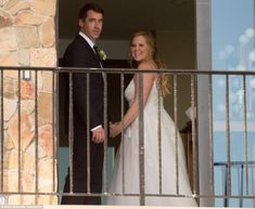 Introducing Mr and Mrs Fischer: The bride glowed as she was seen inside the Malibu mansion...