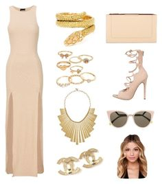 """Gold Club"" by apples700 ❤ liked on Polyvore featuring Cartier, Mudd, Lucky Brand, Chanel, BCBGMAXAZRIA and Fendi"