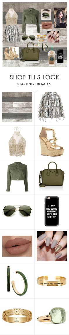"""""""Starbucks mode"""" by ejollia ❤ liked on Polyvore featuring Zimmermann, Michael Kors, T By Alexander Wang, Givenchy, Casetify, Alisa Michelle, Gucci and Pomellato"""