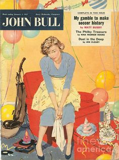 size: Giclee Print: Front Cover of 'John Bull', January 1957 : Entertainment British Magazines, Magazines For Kids, Vintage Magazines, Vintage Ads, Vintage Phones, Vintage Graphic, Journal Vintage, Advertising Archives, Vintage Housewife