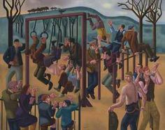 William Roberts, R.A. (1895-1980) Primrose Hill, The Playground Price realised  GBP 818,500 USD 1,095,972 Estimate GBP 400,000 - GBP 600,000 (USD 534,000 - USD 801,000)