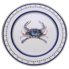 Check out this item at One Kings Lane! Crab Charger, Blue