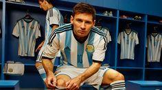 Messi en el vestuario