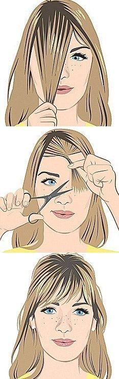 how to cut bangs - Google Search