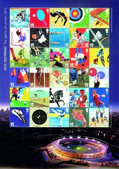 This highly collectable product features all 30 stamps from all three Olympic and Paralympic stamp issues on a single stamp sheet. This is the first time that Royal Mail has created a sheet featuring so many different designs, created by leading contemporary design artists.