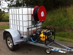Water Bowser with pump & hose Work Trailer, Trailer Diy, Trailer Plans, Trailer Build, Utility Trailer, Homemade Trailer, Free Trailer, Ibc Tank, Tractor Accessories