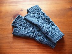 Ravelry: Fluffy Knitter Mitts pattern by Paula McKeever