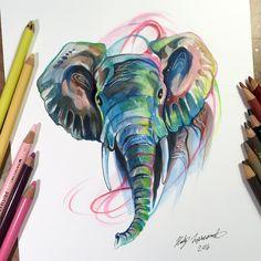 Elephant by Lucky978 on DeviantArt