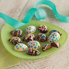 Colorful Easter egg truffles