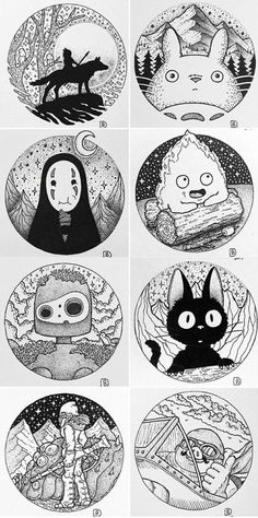 Dessins de Studio Ghibli par ( Brady) - Studio Ghibli drawings by. - Dessins de Studio Ghibli par ( Brady) – Studio Ghibli drawings by ( Brady) D - Art Studio Ghibli, Studio Ghibli Tattoo, Studio Ghibli Movies, Tattoo Studio, Tattoo Drawings, Art Drawings, Tattoo Sketches, Art Tattoos, Geek Tattoos