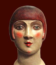 'Tête de femme, la garçonne' (vers. 1925) by artist Maurice de Jermon (1870-1937). Collection: Musée des Années Trente, Boulogne-Billancourt, France. via Jean-Pierre Dalbéra on flickr