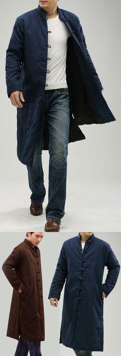 €120.00 €108.00 10% OFF Standing Collar Wadding Long Coat (CM)