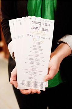 purple and gold programs | cathedral wedding | elegant wedding details | #weddingchicks
