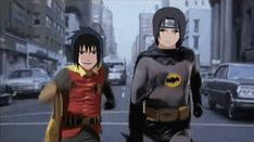 Gif: Itachi and Sasuke as Batman and Robin...I don't even know how to react to this.