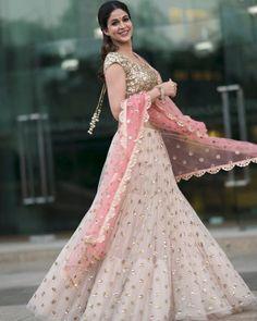 Beautiful baby pink gold and powder pink bridal Reception Sangeet Engagement Lehenga Choli Indian Wedding wear Indian Lehenga, Indian Gowns, Indian Wedding Wear, Indian Party Wear, Indian Bridal, Lehenga Choli Designs, Party Wear Lehenga, Bridal Lehenga, Indian Designer Outfits