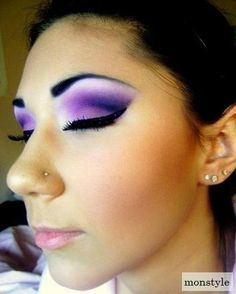 Purple looks great on green eyes and brown!